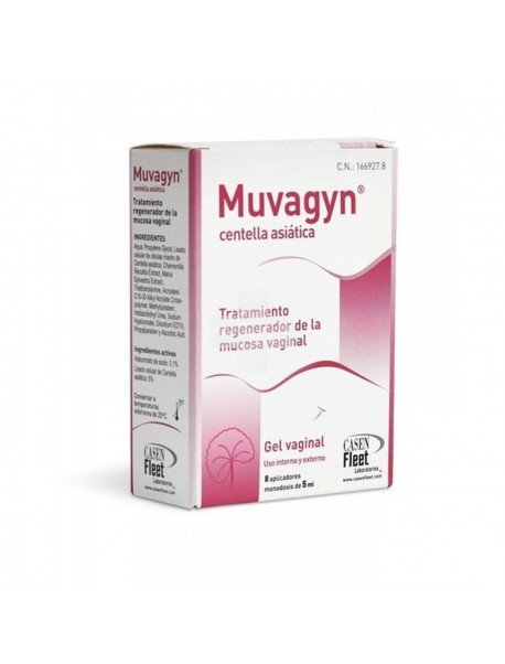 Muvagyn Centella Asiática Gel Vaginal 8 Tubos Monodosis
