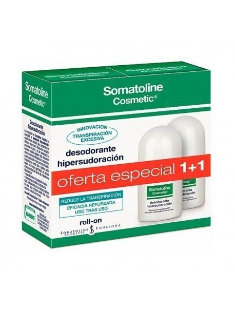 Somatoline Cosmetic Duplo Desodorante Roll On Hipersudoración 30ml. + 30ml.