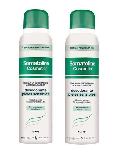 Somatoline Cosmetic Duplo Desodorante Spray Piel Sensible 150ml. + 150ml.