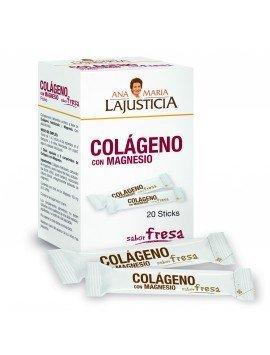 Ana María LaJusticia Colágeno + Magnesio Sabor Fresa 20 Sticks