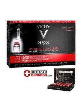 Vichy Dercos Aminexil Clinical-5 Hombre Ampollas