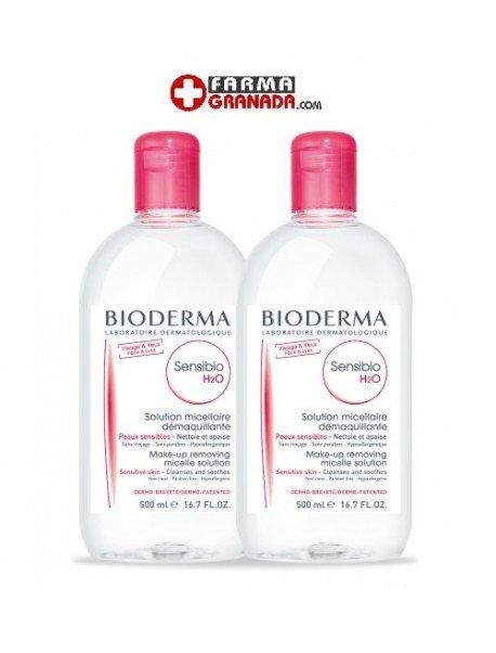 Bioderma Pack DUPLO Micelar Sensibio H2O 500ml + 500ml