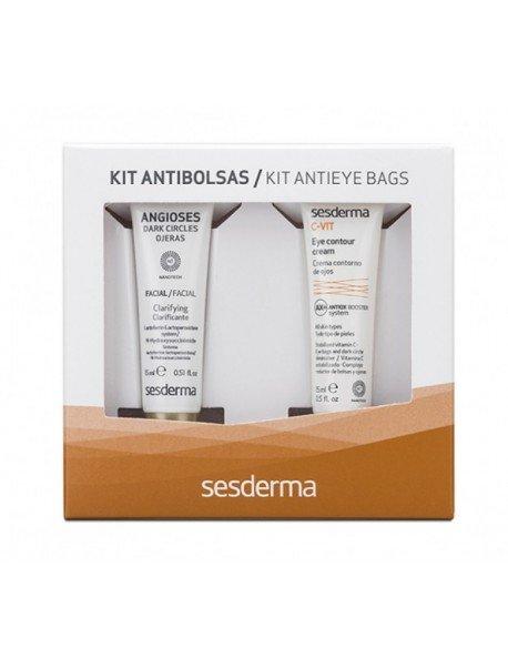 Sesderma Kit Angioses + C Vit Contornos de Ojos Anti Bolsas 15ml + 15ml