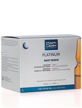 MartiDerm Platinum Alfa Peeling Ampollas Night Renew