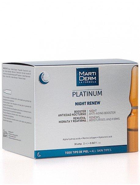 MartiDerm Platinum Alfa Peeling Ampollas Night Renew