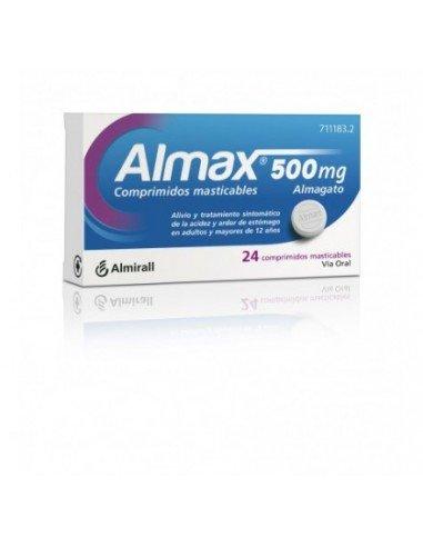 Almax 500mg 24 Comprimidos Masticables